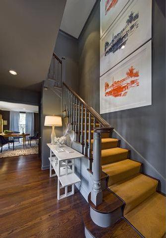 Best Prints On The Stair Mustard Grey Orange Home Grey 400 x 300