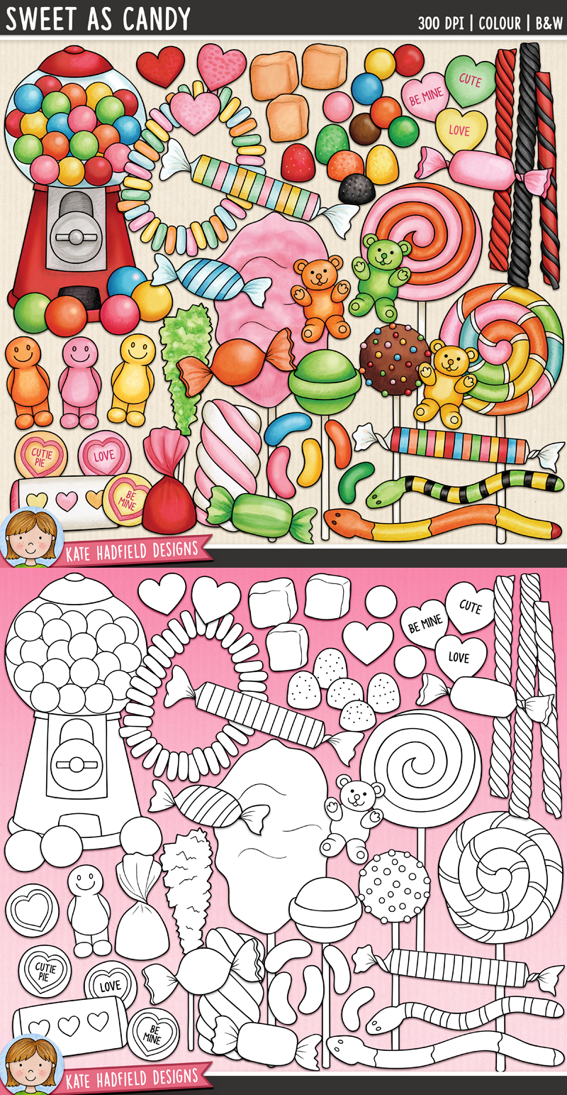 Candy Clip Art In 2020 Art Bundle Candy Drawing Sweet Drawings