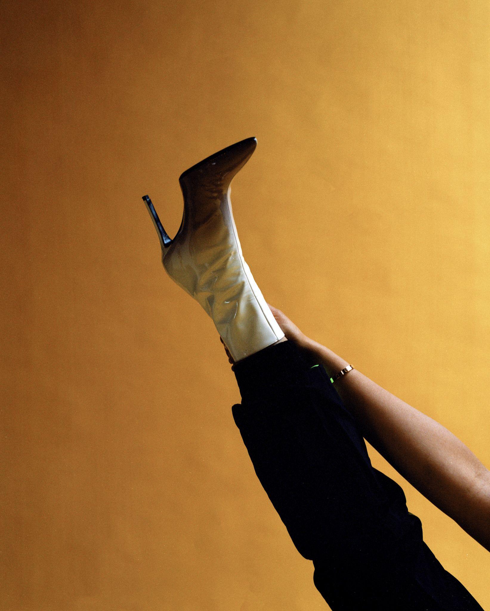 ea55eafad6d BARNEYS NEW YORK X JORDYN WOODS Dégradé Patent Leather Ankle Boots ...