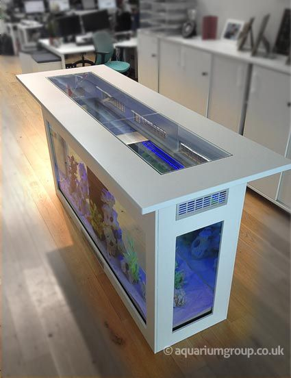 Made To Measure Island Countertop Aquarium With 360 Degree Viewing Home Aquarium Custom