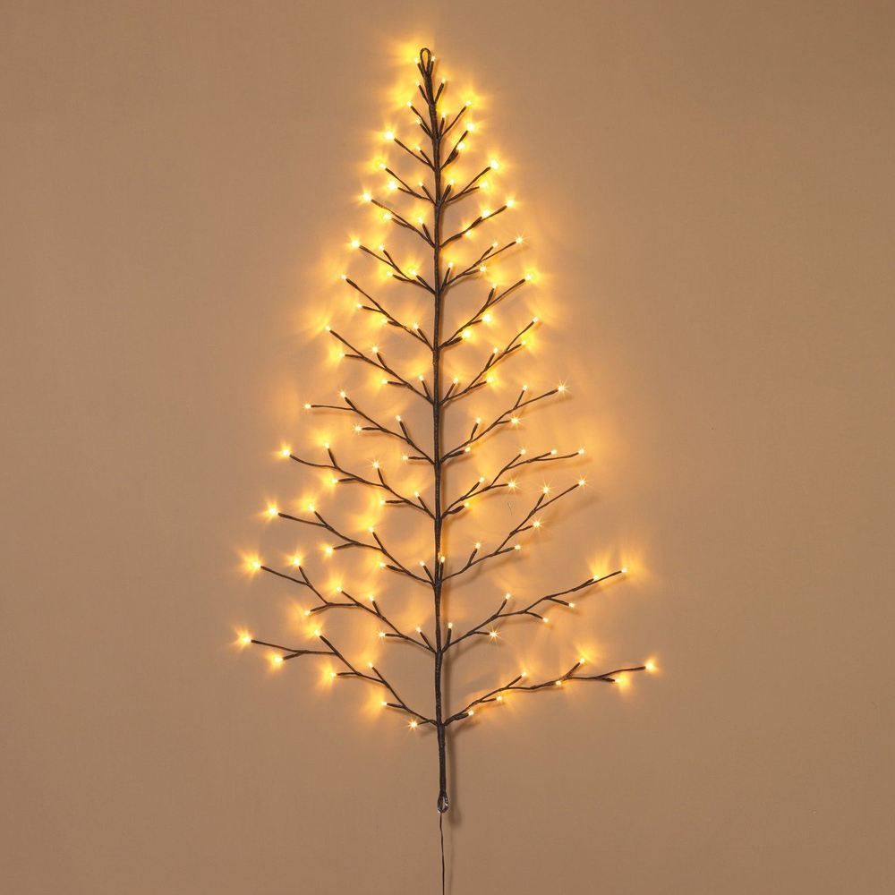 Everlasting Glow Lighted Wall Tree 112 Warm White Led Lights Easy To Shape Branches Ebay Tree Wall White Led Lights Lights