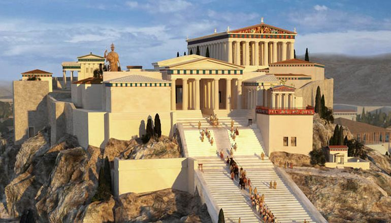 Animation Presents The Ancient Greek Acropolises Of Athens And