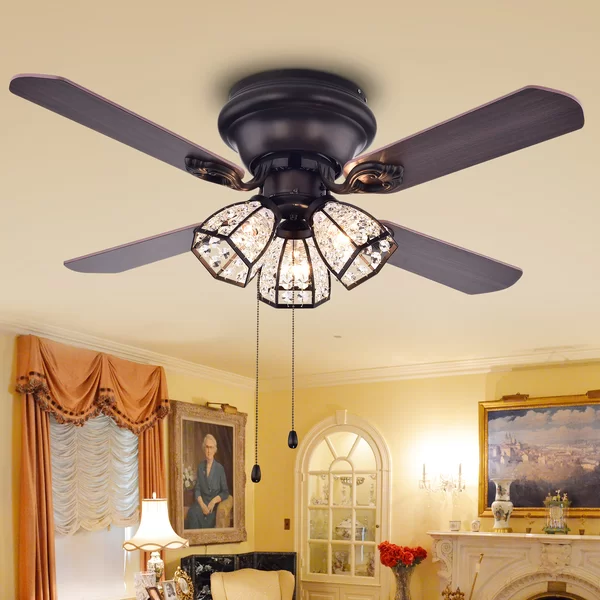 "Alcott Hill 42"" Alayna 4 Blade Ceiling Fan, Light Kit"