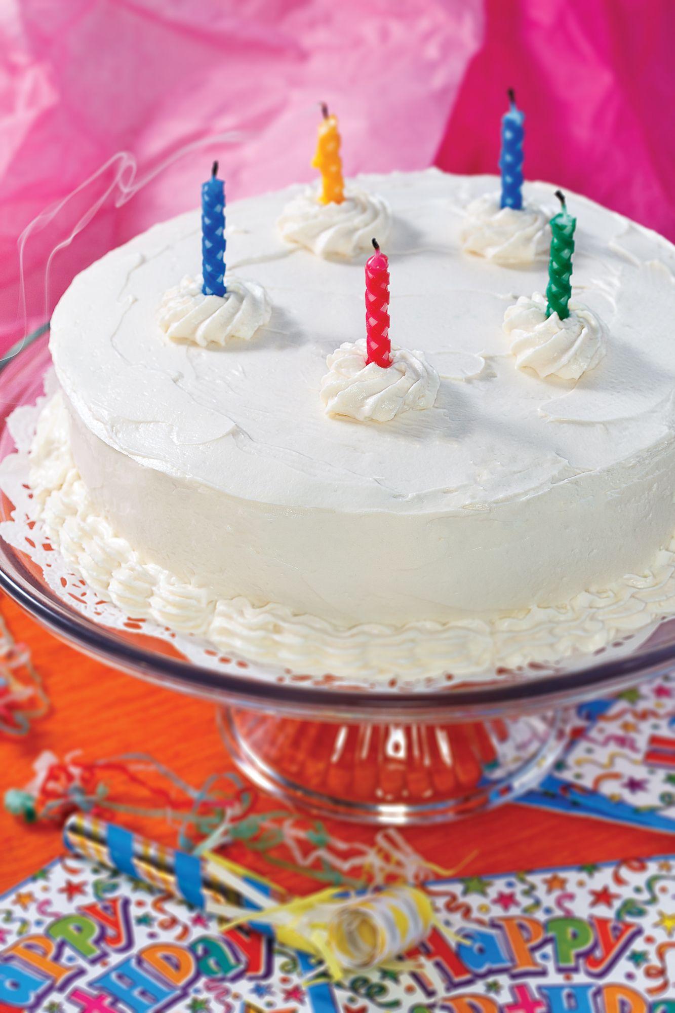 CLICK PIC 2x SLOWLY for Recipe....White Birthday Cake