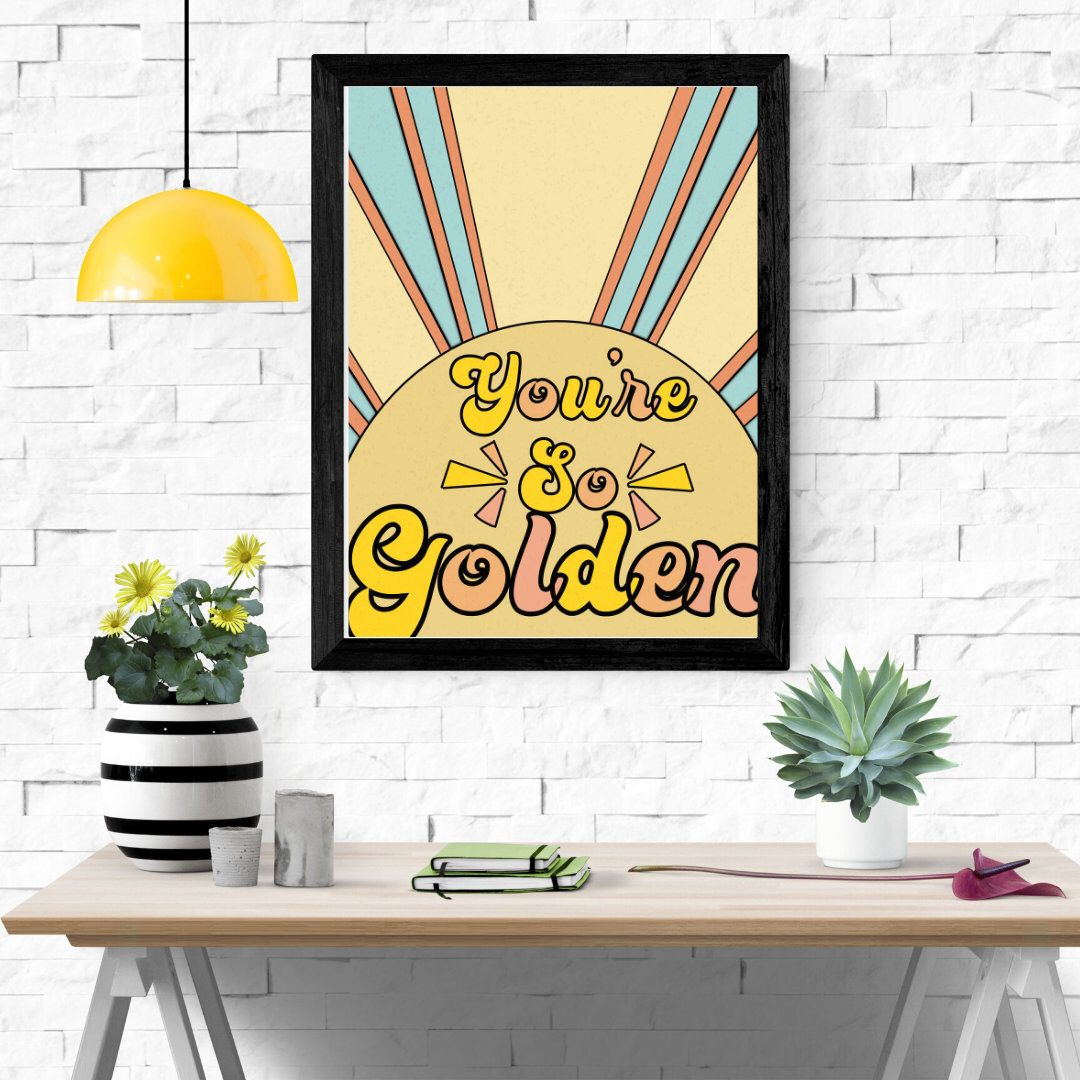 Golden Sun Harry Styles Print Poster 8 x 10 Music Lyrics