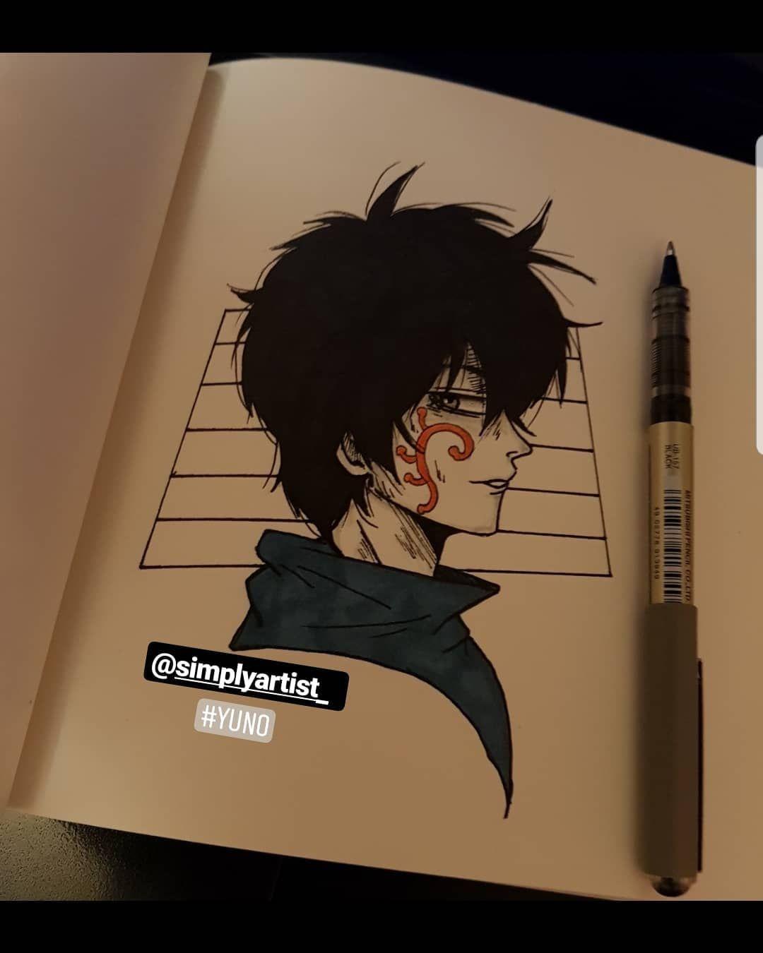 Yuno الرسمة كلش هوب في المستوى سويته في ربع ساعه يعني سكيتج بو طقه بصراحه بالزور لقيت له صوره اتدش مزاجي ورسمته مرتين ومحيت و Anime Art Art Anime