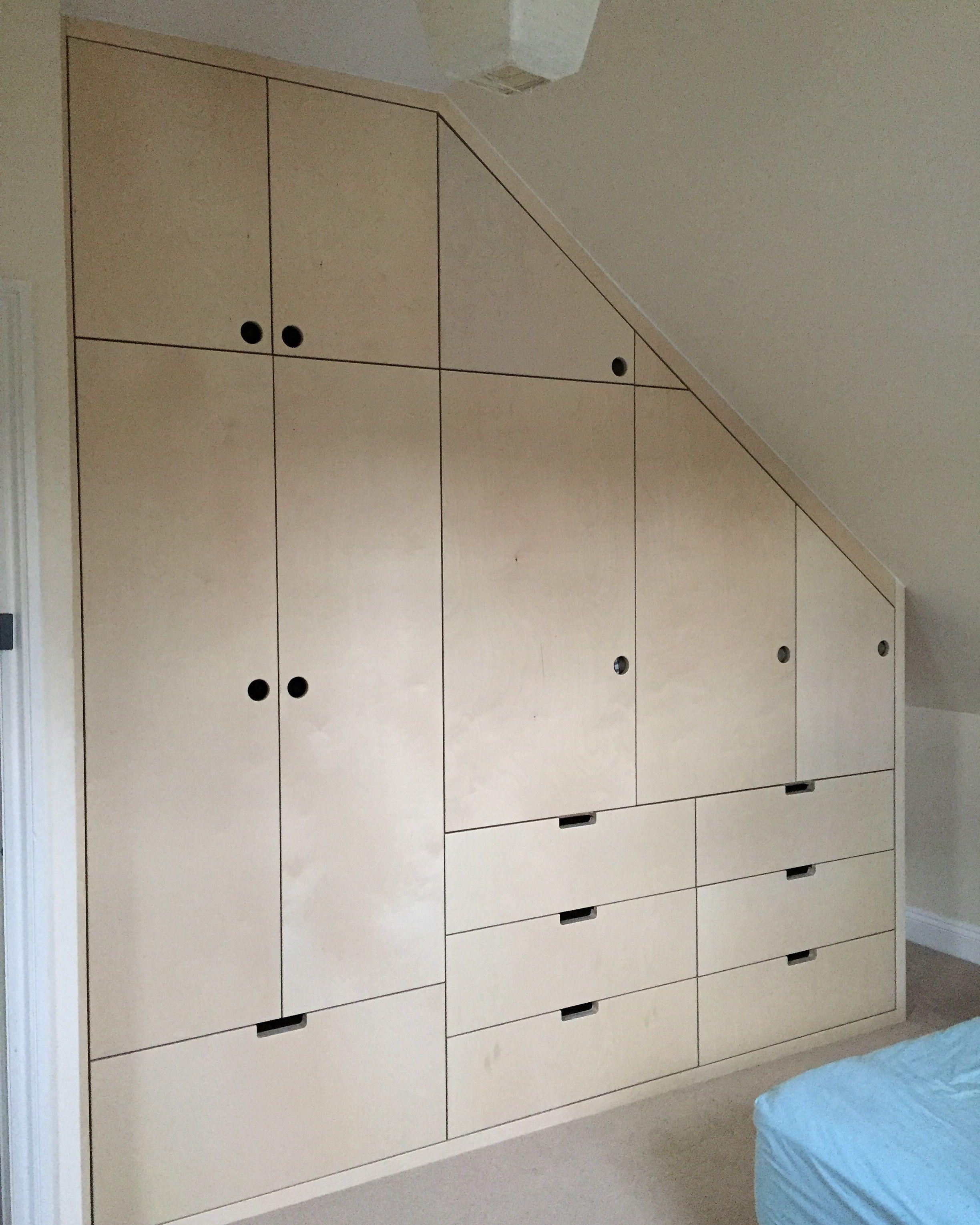 Baltic Birch Plywood Wardrobe