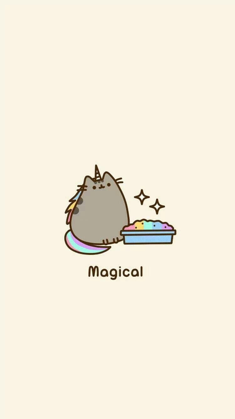 Pusheen unicorn Pusheen stickers, Cool cute backgrounds