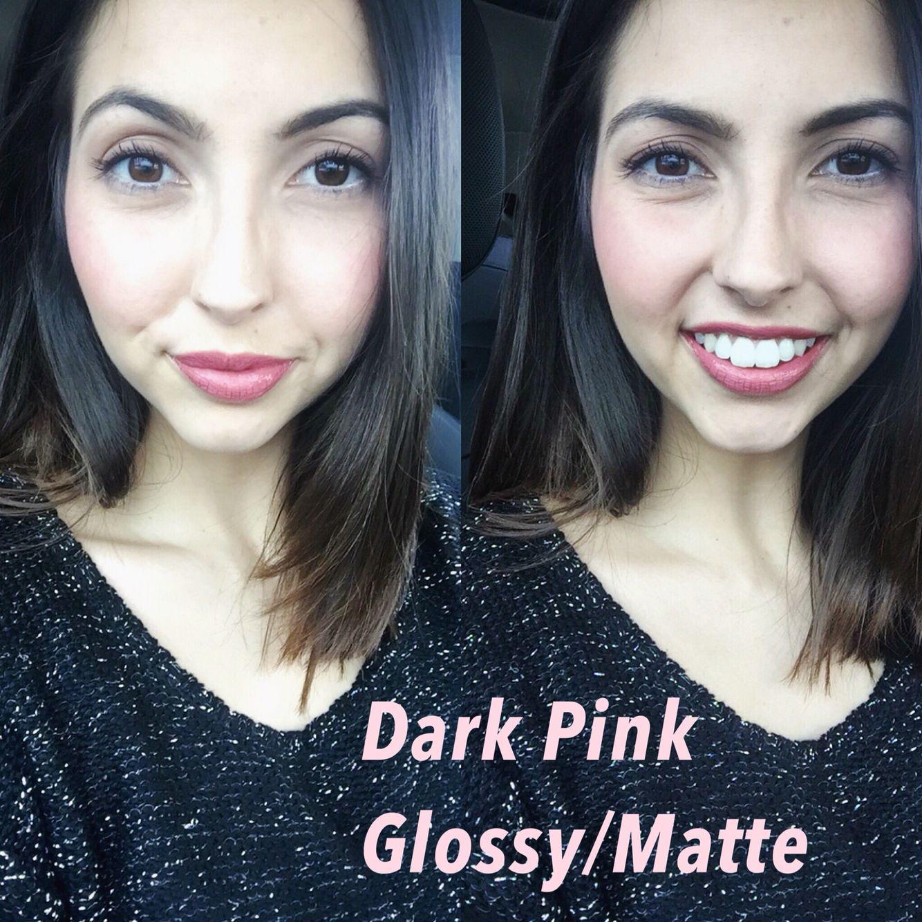 Dark Pink Lipsense Matte Gloss All Day Lip Color