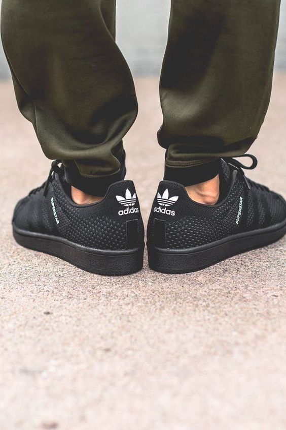 Big Deals Adidas Superstar Homme Maille Noire Blanche Disponible   O ... f06f8396f3be