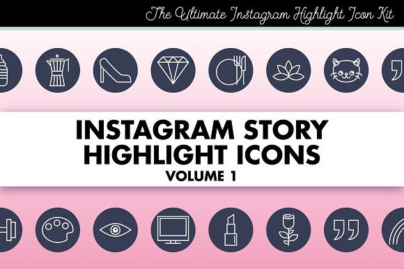 Instagram Story Highlight Icons 1 By Marmalade Moon On Creativemarket En 2020 Affinity Designer Presentaciones Power Point Graphic 45