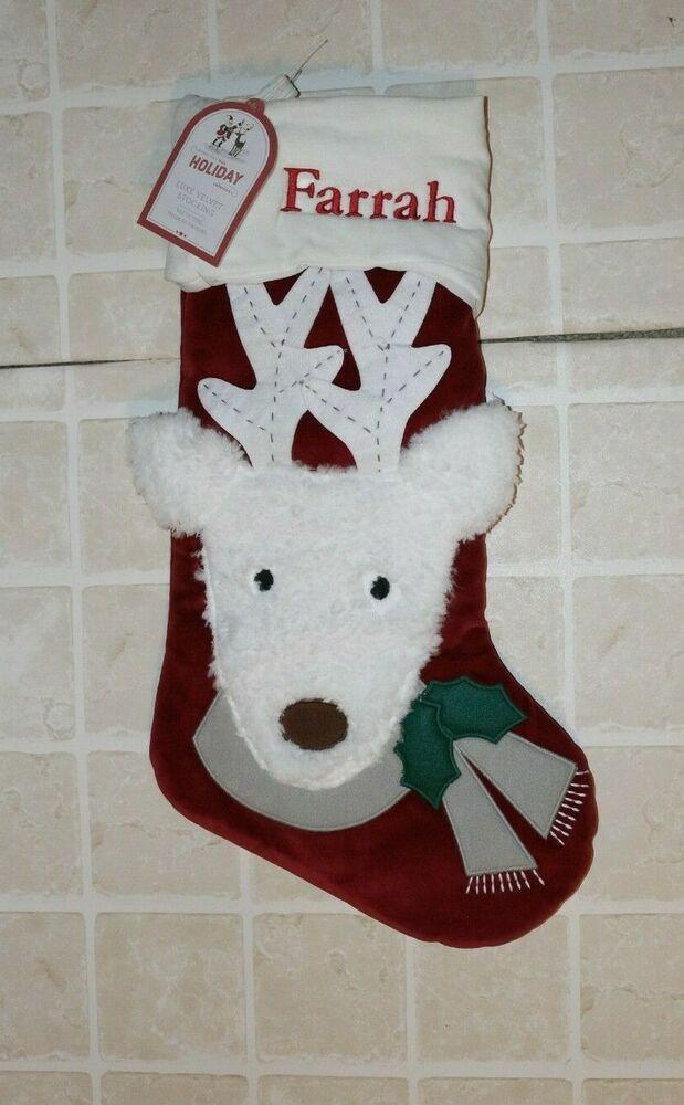 Pottery Barn Kids Christmas Luxe Velvet Stocking
