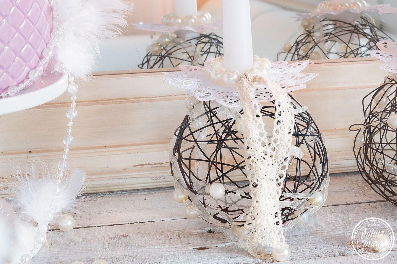 Deko selber machen stilvolle kerzenhalter aus draht weihnachts