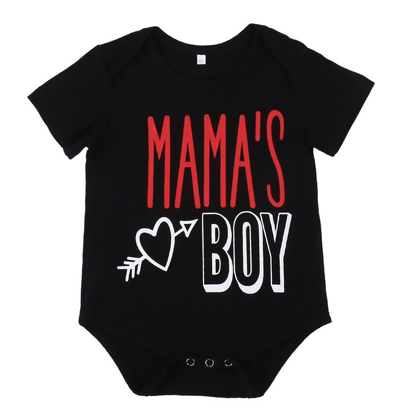 0bbb0c644445 Click to Buy    Newborn Toddler Infant Baby Girls Boys Short Sleeve  Bodysuit Jumpsuit Outfits Mama s boy Casual Clothes 0-24  Affiliate