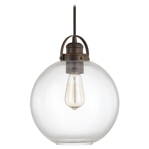 Capital Lighting Burnished Bronze Pendant Light With Globe Shade Bronze Pendant Light Capital Lighting Fixture Pendant Light