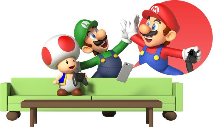 Toad Luigi And Mario Nintendo Voice Chat Smartphone App