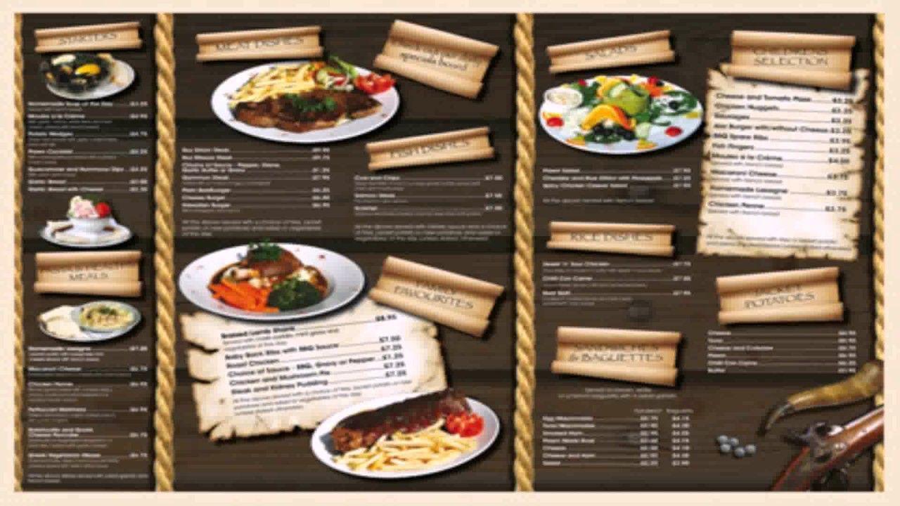 plantillas para menus de restaurantes gratis