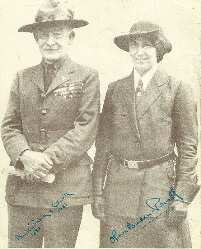 Lord Baden-Powell and his wife Olave ----- The Scout Movement was ... 5f86ac820bf