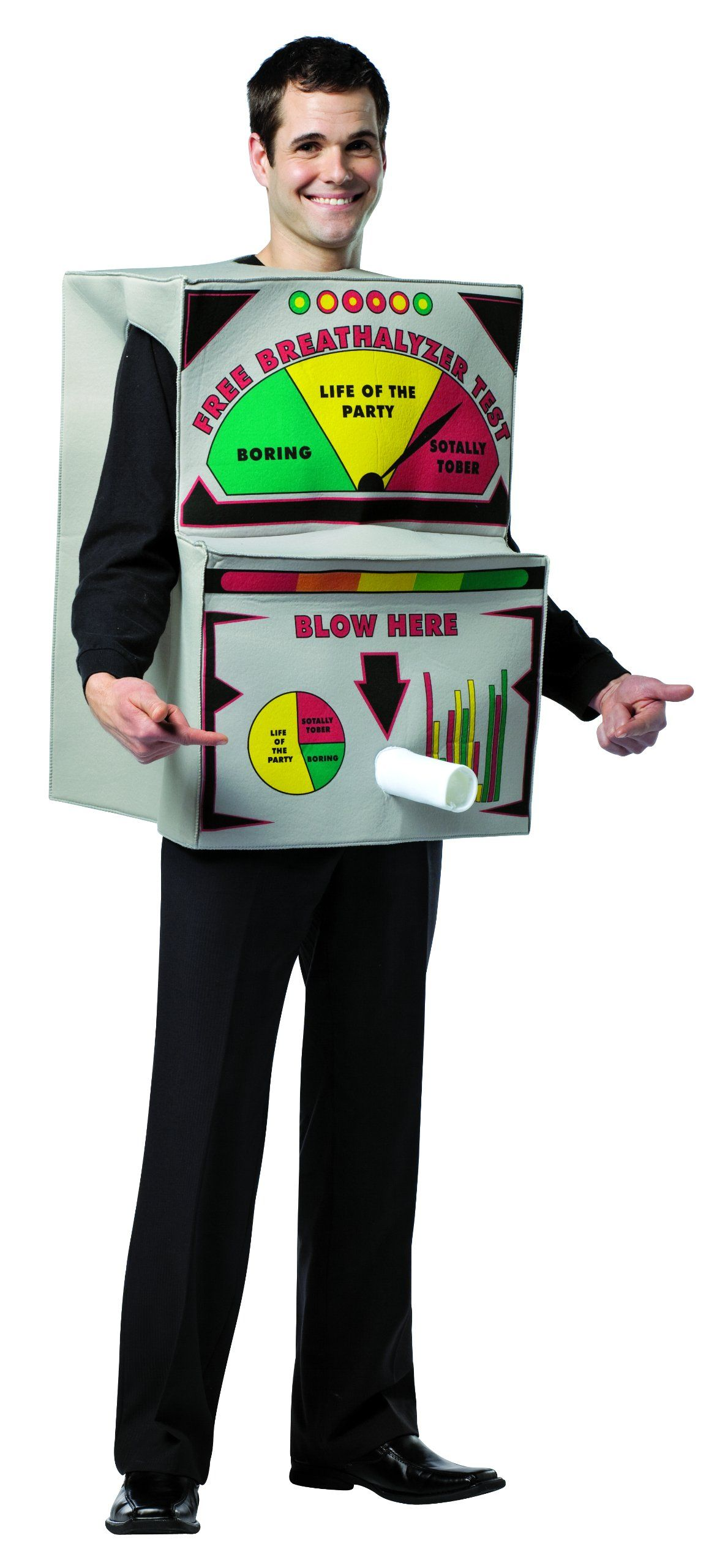 Rasta Imposta Breathalyzer Costume MultiColored One Size