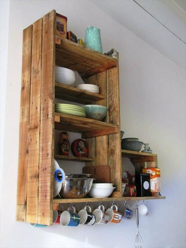 diy recycled pallet kitchen cabinet