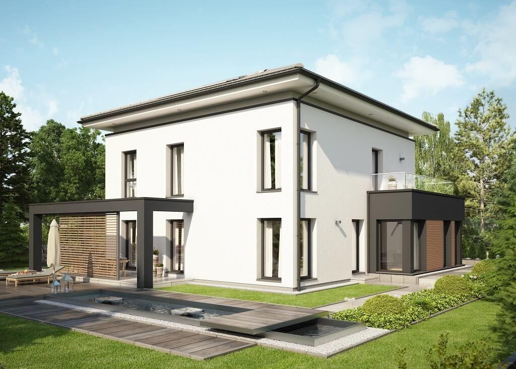 Fertighaus stadtvilla garage  Evolution Potsdam - Bien Zenker - http://www.hausbaudirekt.de/haus ...