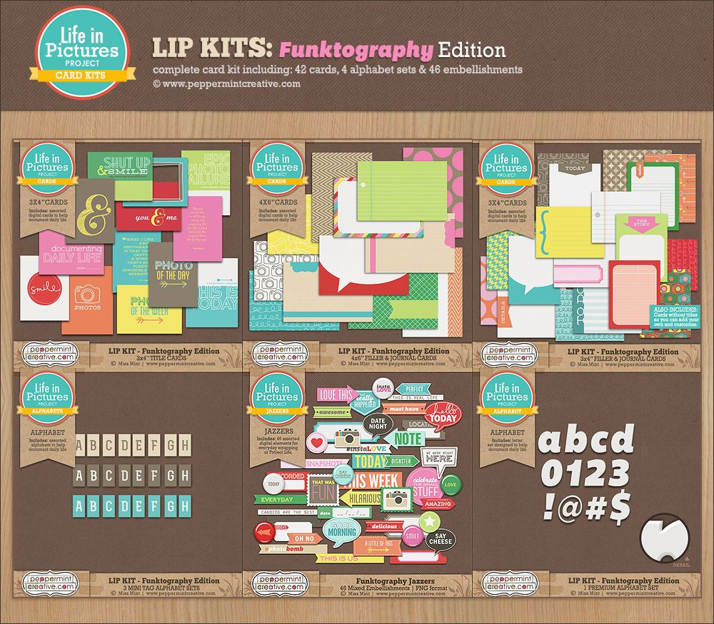 LIP KIT: Funktography Edition - $13.69 : Peppermint Creative, Digital Scrapbook Supplies
