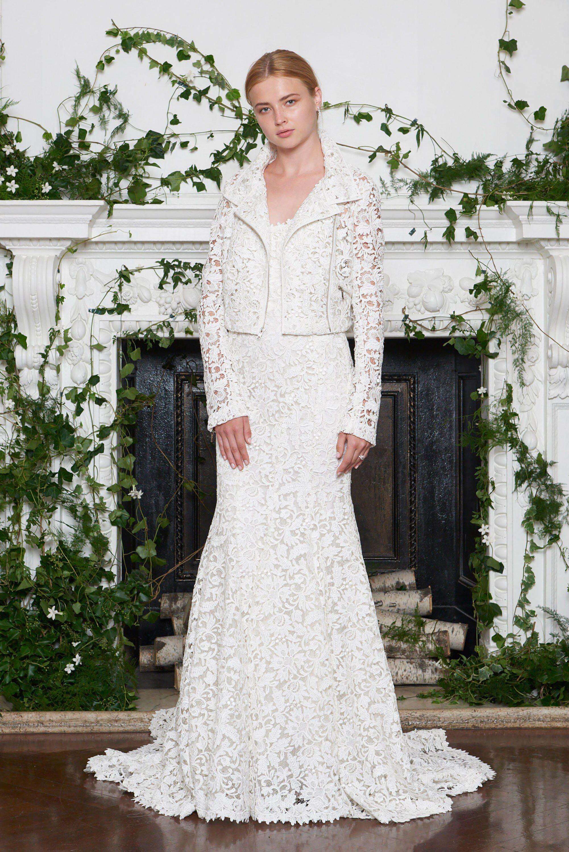 Monique Lhuillier Bridal Fall 2018 Fashion Show Collection Wedding ...