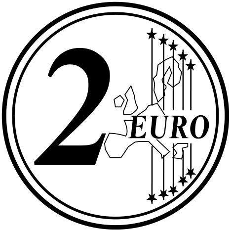 Euros Dibujos Para Colorear Monedas Y Billetes Billetes De Euro Monedas Billetes