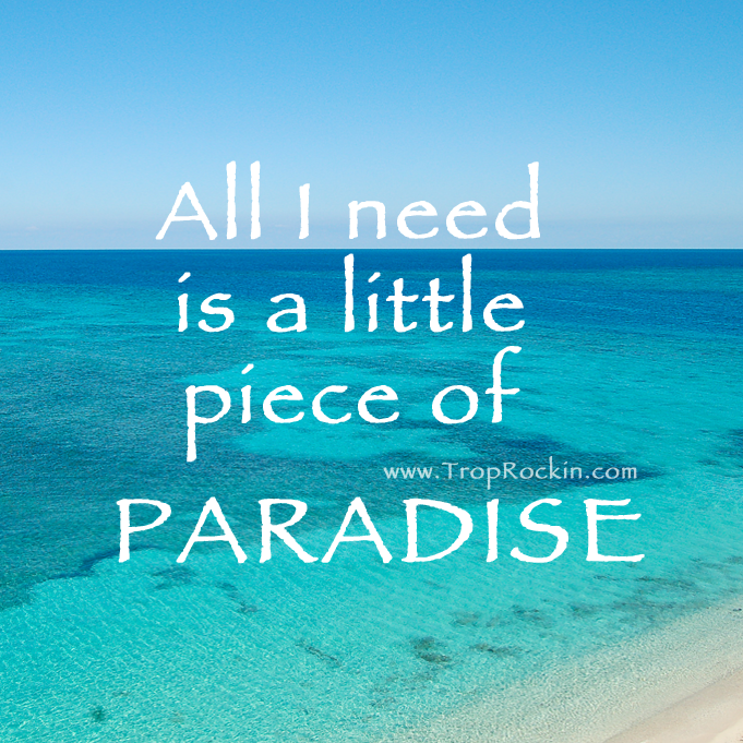 All I Need is a Little Piece of PARADISE! Take me to the ...