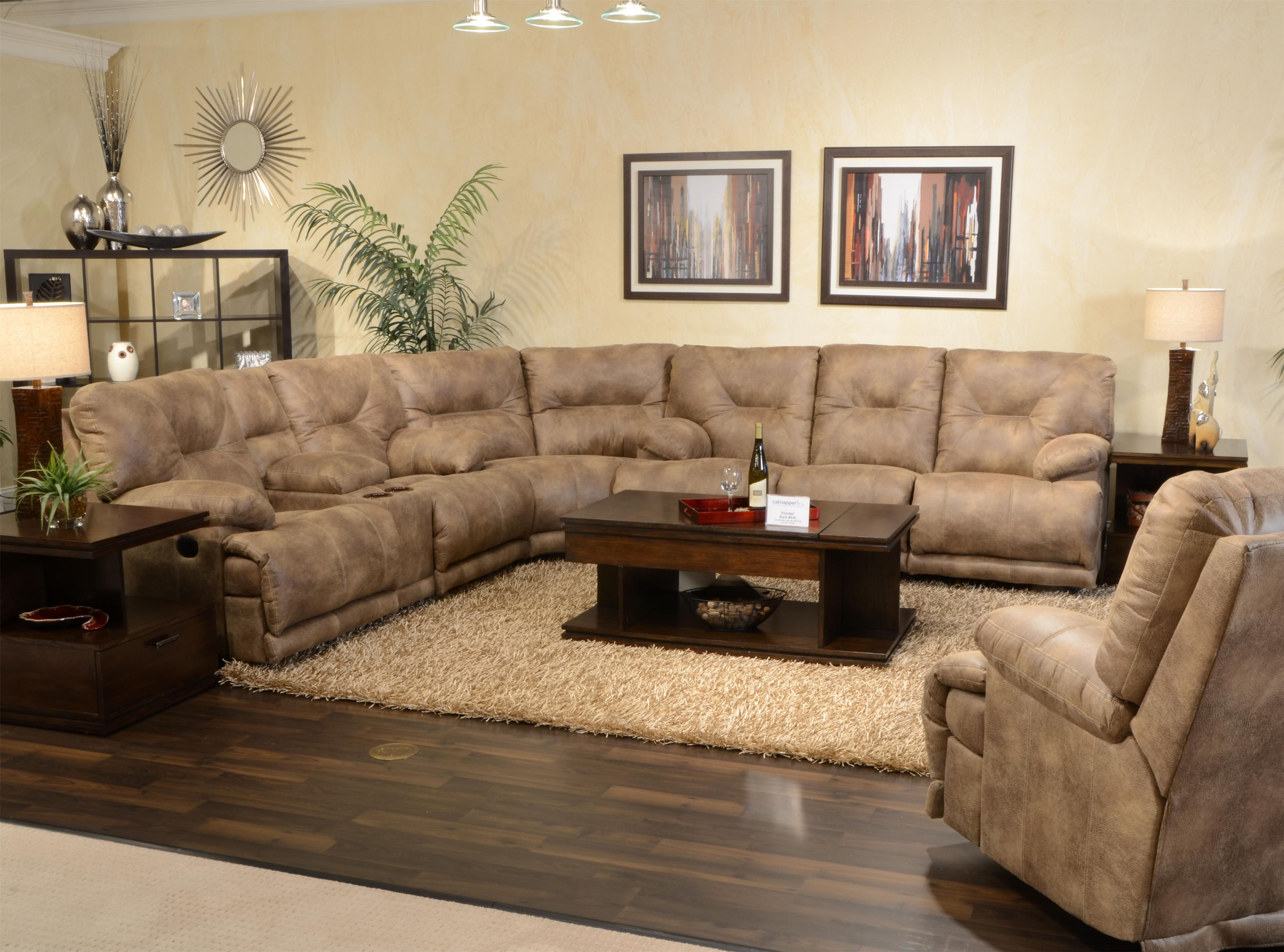 """Voyager POWER 6 Seat """"Lay Flat"""" Reclining Sectional"""