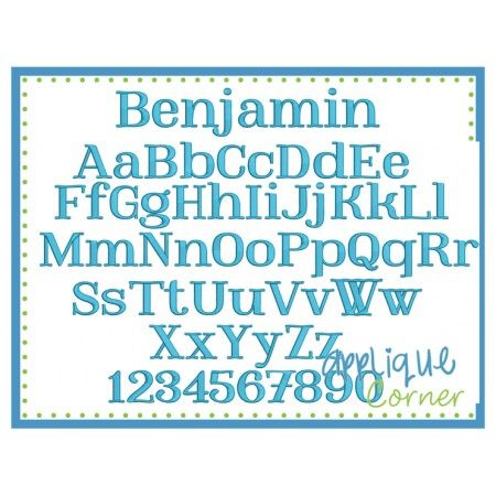 Benjamin Embroidery Font | fonts I HAVE for EMBROIDERY | Pinterest