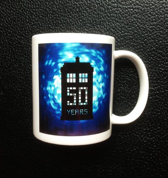 Dr. Who Tardis Mug 50th Anniversary Special by Hx5Designs on Etsy, £6.99