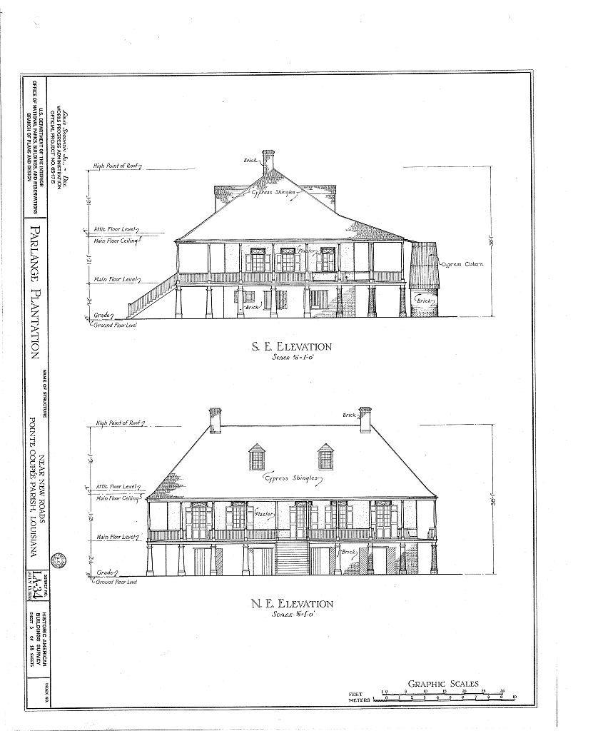 Best Kitchen Gallery: Parlange Plantation House New Roads Louisiana Ne Se Elevations of Louisiana Plantation Home Plans on rachelxblog.com