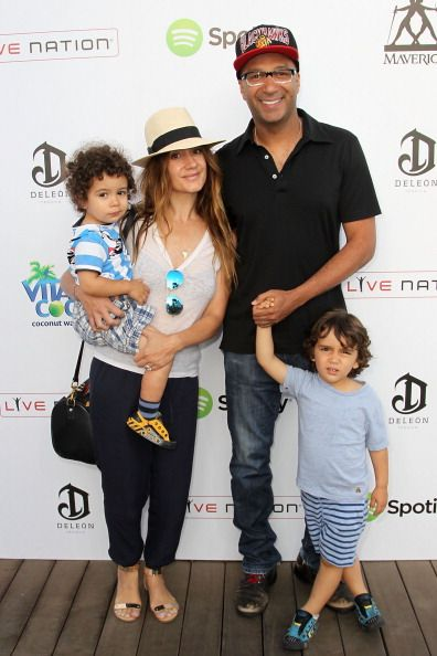 Tom Morello and his family