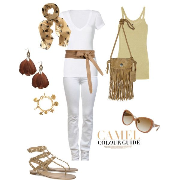 camel shoes polyvore summer set 683211