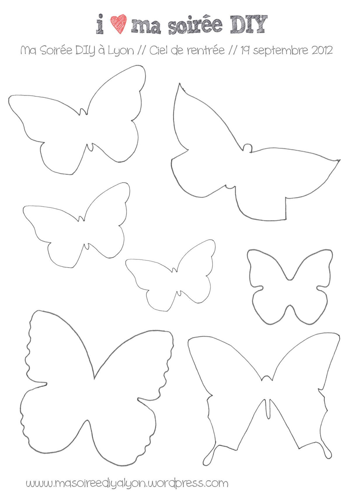 Papillons dessert papillon gabarit papillon et gabarit - Modele de papillon ...