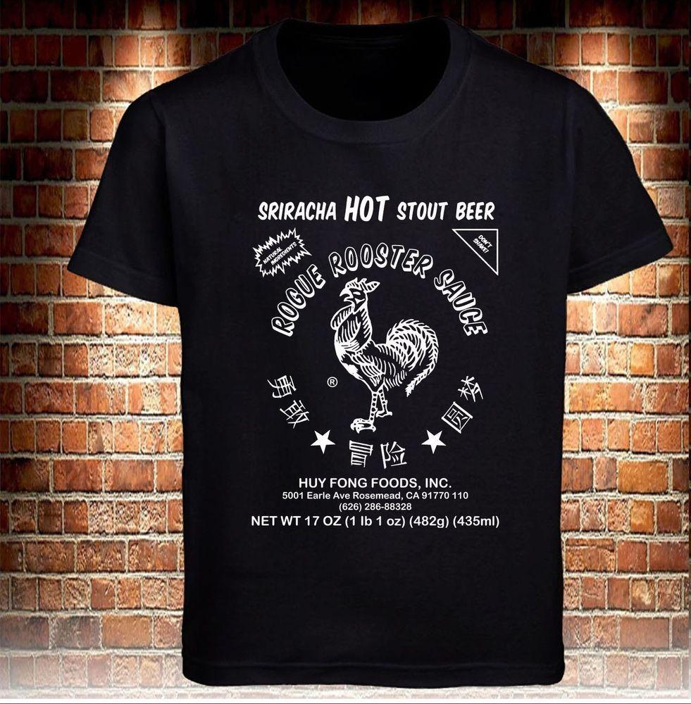 Black T Shirt Sriracha Hot Chilli Sauce Funny Men S M 234xl K038