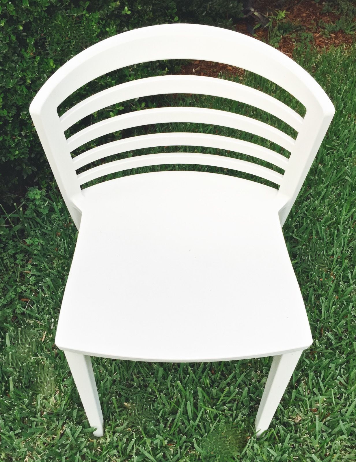 Set 2 Sintesi Venezia Chair Indoor Outdoor White Polypropylene