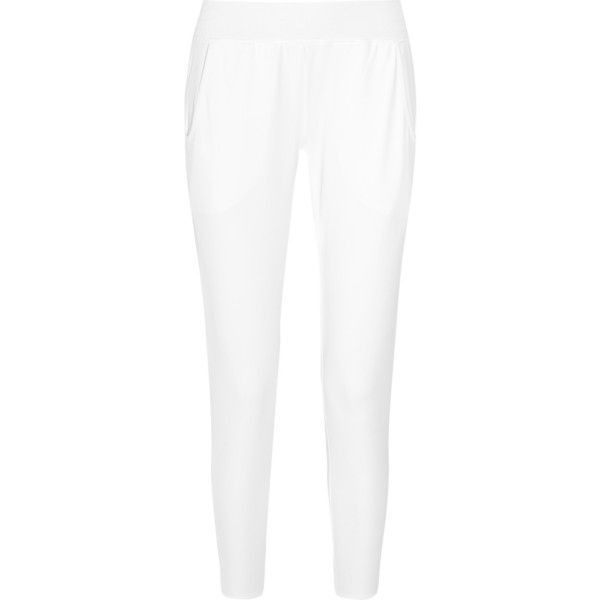 Theory+ Explore stretch-piqué track pants (€76) ❤ liked on Polyvore