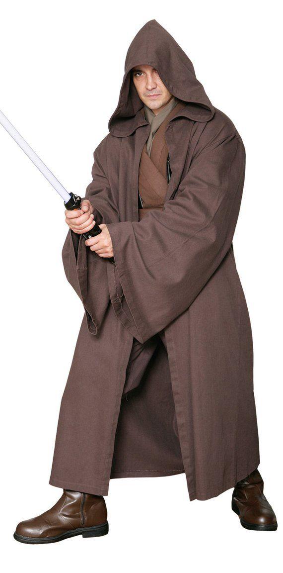 457e1b6edb Star Wars Jedi Knight Jedi Robe ONLY - Dark Brown - Replica Star Wars  Costume