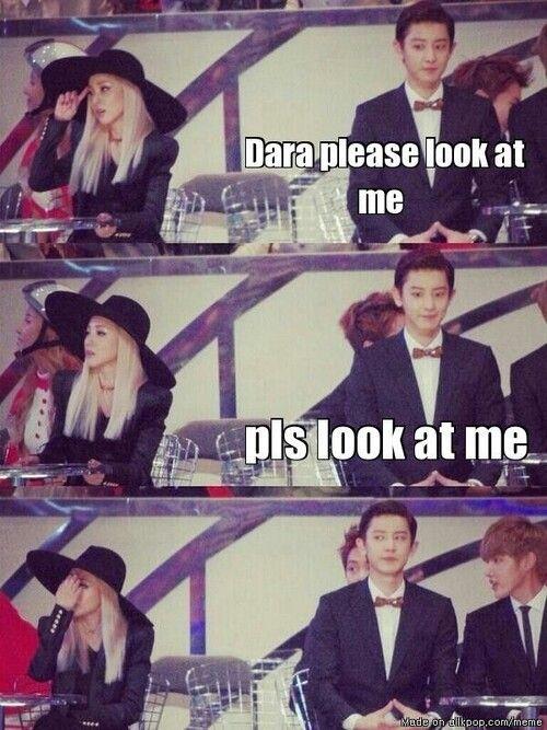 Exo chanyeol and dara dating