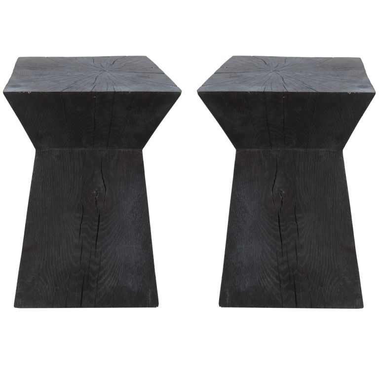 pair of christian liaigre tables for holly hunt