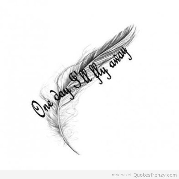Small Feather Tattoos With Quotes Quotesgram: Moulinrouge Feather Tattoo Beautiful Quotes