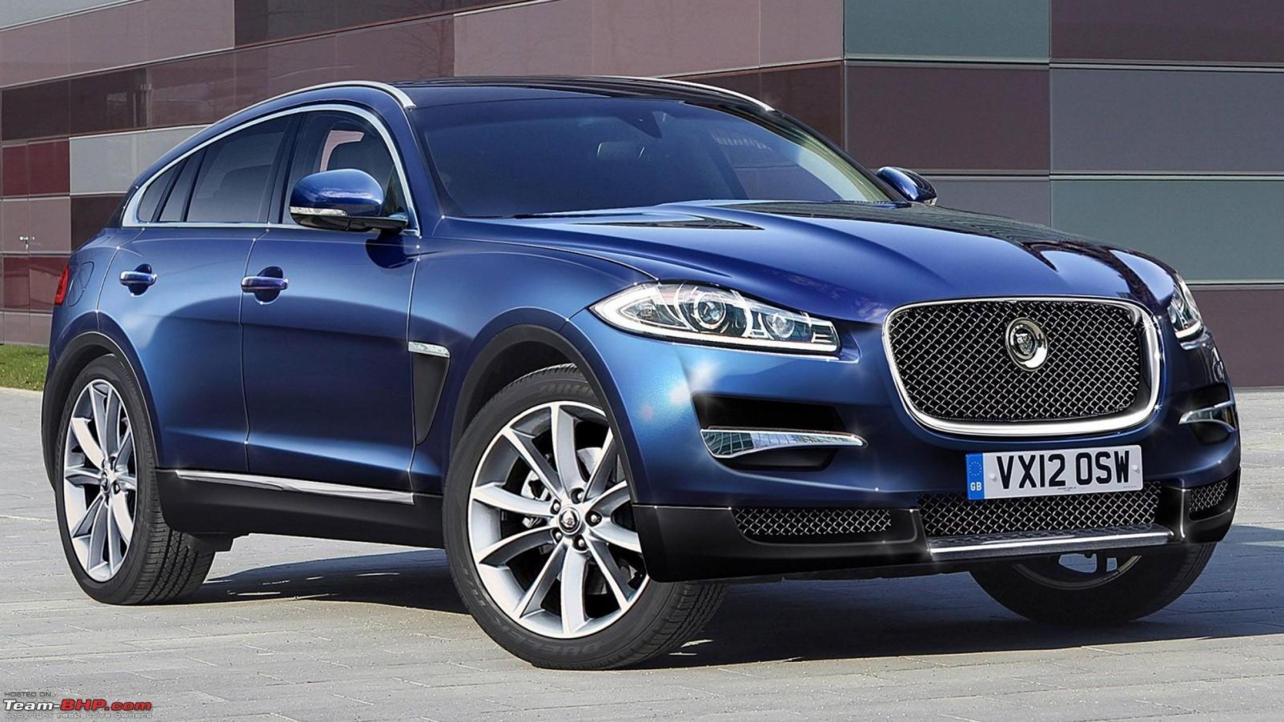 Blue 2016 Jaguar XQ SUV Mobil