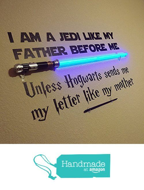 Vinyl Wall Decal Jedi like my Father Unless Hogwarts sends me a letter like my mother - Star Wars and Harry Potter Themed Parody Design from Word Factory Design http://www.amazon.com/dp/B01B94151S/ref=hnd_sw_r_pi_dp_xJg7wb07KR93J #handmadeatamazon