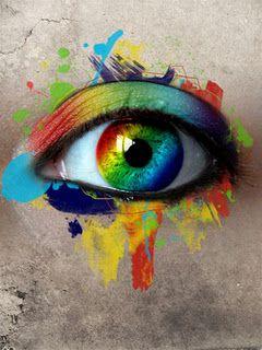 Abstract Eye With Eyes Wide Open Eyes Rainbow Eyes Eye Art