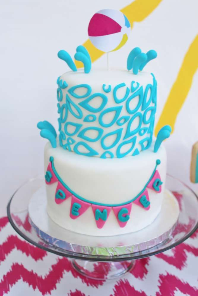Splish Splash Birthday Party Ideas Pool Party Cakes Splish