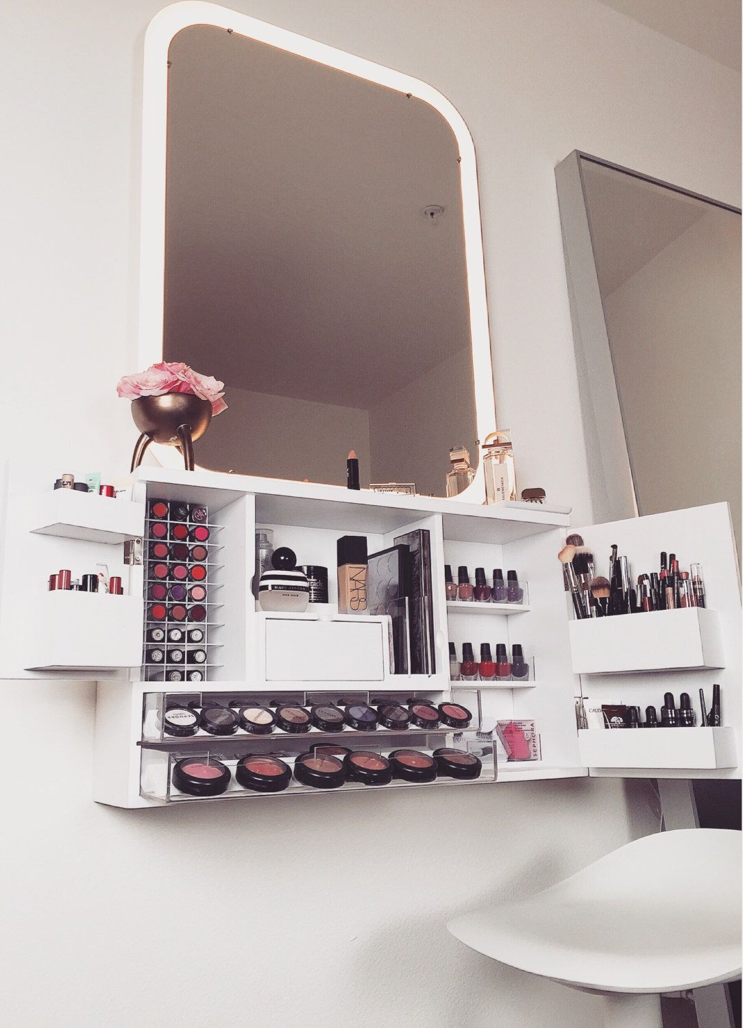 Wall Mounted Makeup Organizer Vanity By Bleachla On Etsy Https