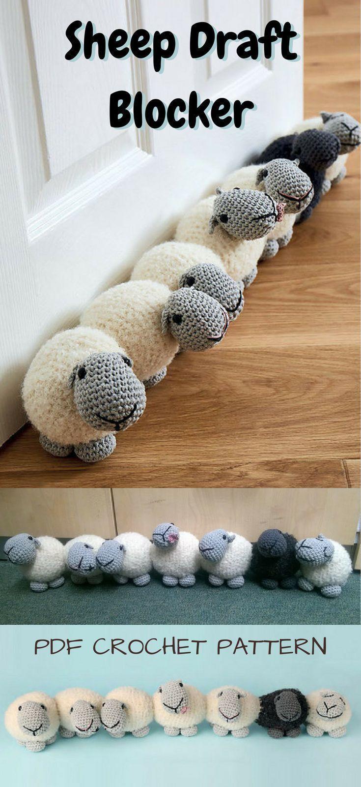 Photo of Häkeln Sie Muster für entzückende Schafe Draft Blocker Door Stop! Wärmen Sie…