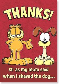 Thank You Garfield And Odie Garfield Cartoon Garfield